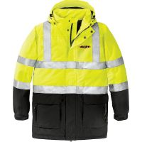 20-J799S, X-Small, Safety Yellow, Left Chest, Dart.