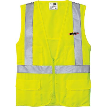 20-CSV405, Small, Safety Yellow, Left Chest, Dart.
